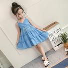 女童洋裝 女童夏裝吊帶連身裙兒童洋氣公主裙女孩童裝夏季裙子雪紡-Ballet朵朵