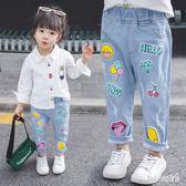 女童牛仔褲2019新款韓版兒童彈力小腳長褲夏裝女寶寶褲子 QG25080『Bad boy時尚』
