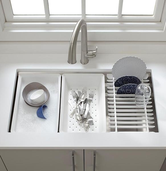 【 麗室衛浴】 美國KOHLER Prolific 83.8cm功能型不鏽鋼水槽 K-5540T-S-NA