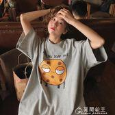 七分袖-短袖t恤女韓版寬松原宿百搭喪繫半袖上衣服 花間公主