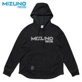 MIZUNO SPORTS STYLE 男裝 上衣 長袖 連帽T恤 1906 棉質 黑【運動世界】D2TA952609