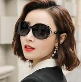 太陽眼鏡 2020新款太陽鏡女圓臉墨鏡女潮鑲鑚防紫外線眼鏡偏光大臉顯瘦ins 【降價兩天】