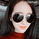 ToGetheR+【CE8032】時尚百搭款不規則鍍膜鏡片造型太陽眼鏡(七色)