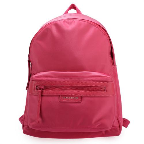 LONGCHAMP Le Pliage Neo系列厚尼龍後背包(桃紅色)480612-018