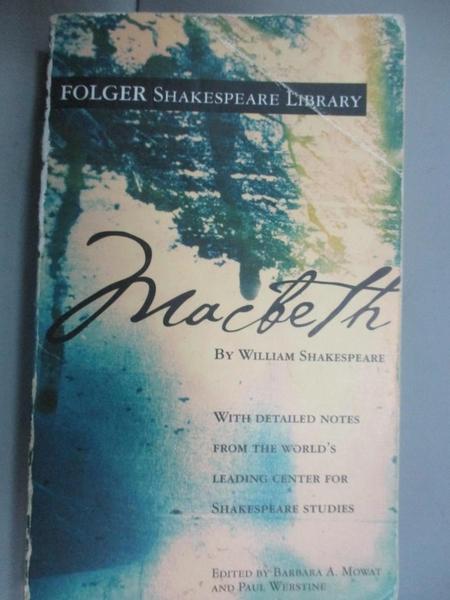 【書寶二手書T1/原文小說_IFY】Macbeth_Folger Shakespeare Library