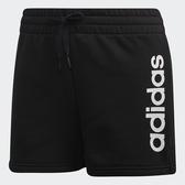 ADIDAS ESSENTIALS LINEAR 女裝 短褲 休閒 慢跑 訓練 棉質 黑【運動世界】DP2393