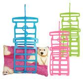 可調節式多功能枕頭布偶娃娃曬衣架 DIY創意掛曬架 不挑款 ◆86小舖◆