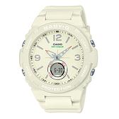 CASIO手錶專賣店  BGA-260-7A  BABY-G 露營風雙顯女錶 樹脂錶帶  褪色白 防水100米