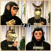 動物面具萬聖節恐怖搞笑頭套【聚寶屋】