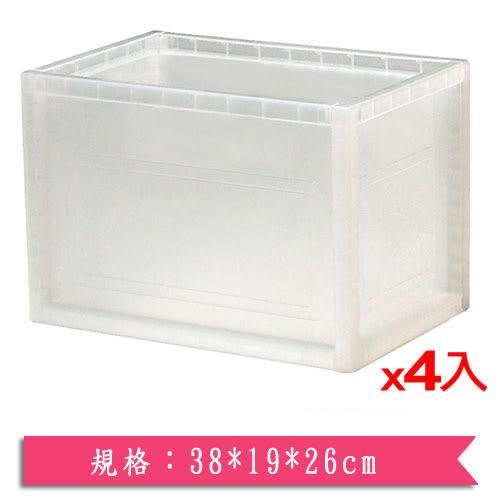 樹德KD-2619巧拼收納箱-本透4入組【愛買】