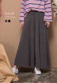A-SO-BI正韓連線-腰彈性份量感針織棉寬褲裙【R10256-04】