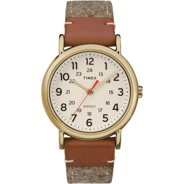 【TIMEX】天美時經典復刻冷光Weekender系列手錶(米白 TXTW2R42100)