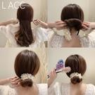 盤髪器 韓國2021春夏新款丸子頭盤髮器網紅懶人花朵編髮造型神器女
