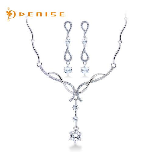 項鍊 耳環 925純銀「豪華套組」銀飾禮品