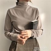 打底衫女半高領薄款長袖T恤2021秋冬修身內搭小衫秋衣洋氣上衣服 夏季新品