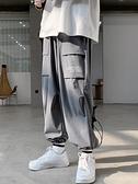 工裝褲 胖子日系機能工裝褲男加肥大碼寬鬆束腳褲潮牌春季休閒嘻哈闊腿褲 非凡小鋪 新品