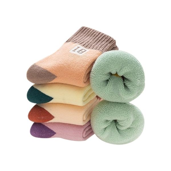 秋冬加絨保暖兒童中筒襪(5雙入) 款式可選【小三美日】