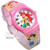Disney 迪士尼 時尚卡通手錶 小美人魚 公主 兒童手錶 數字 女錶 粉紅色 D小美人魚小P1