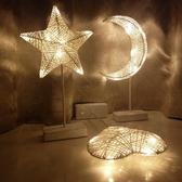 LED小彩燈臺燈ins少女心布置房間臥室網紅宿舍浪漫裝飾夜燈星星燈 【小梨雜貨鋪】