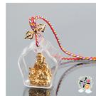 黃財神(嘎屋)五色線項鍊 +平安小佛卡【十方佛教文物】