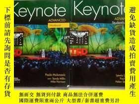 二手書博民逛書店Keynote罕見Advanced Student s Book +Workbook(TEDTALKS)2冊合售奇