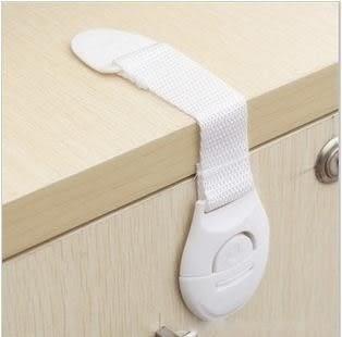 現貨 - 寶寶安全抽屜鎖扣/多功能織帶鎖 櫥櫃鎖衣櫃鎖