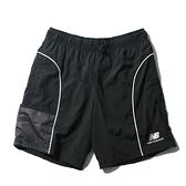 NEW BALANCE 短褲 NB 束繩扣 尼龍 黑白 男 (布魯克林) AMS11500BK