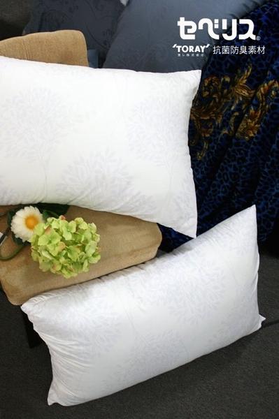 【 百分百台灣製造】日本東麗 抗菌 壓縮枕 枕頭 防螨 抗菌纖維 五星級 純白台灣製 枕心