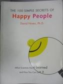 【書寶二手書T1/勵志_LPP】The 100 Simple...Happy People_NIVEN
