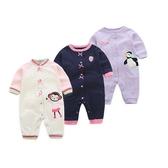 長袖連身衣 粉色女寶寶兔裝 女童長袖連身裝 XIS4456 好娃娃