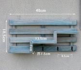 創意實木墻上免打孔置物架店鋪壁掛