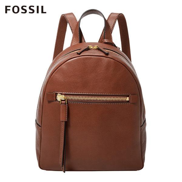 FOSSIL MEGAN 咖啡色真皮迷你背包ZB7693200
