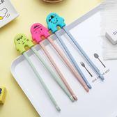 聖誕節狂歡 兒童筷子訓練筷小孩家用防滑寶寶一二段男孩學習練習筷幼兒筷套裝