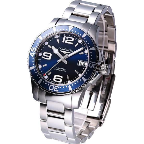LONGINES 浪琴 征服者300米潛水64小時動力儲存機械錶-藍/41mm L37424966