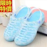 洞洞鞋-甜美碎花糖果色防水女果凍鞋4色67u32【巴黎精品】