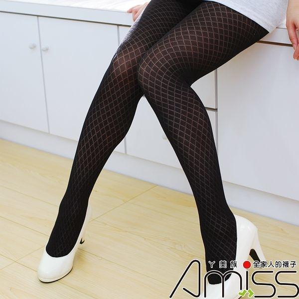 Amiss-襪子團購網♥【A133-7】流行花紋褲襪-小方格