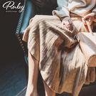 裙子 RCha。素色直紋針織鬆緊長傘裙-...