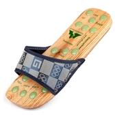 木拖鞋男休閒木屐中國風情侶木鞋女夏木板鞋足底穴位腳底按摩拖鞋