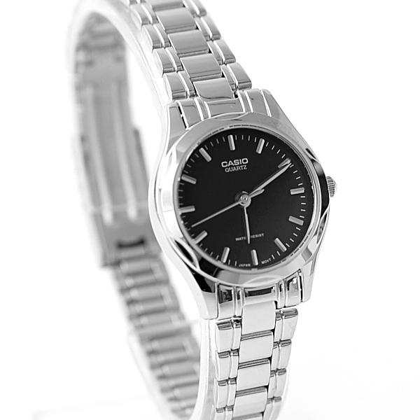 CASIO卡西歐簡約俐落黑面腕錶 女生基本錶款 柒彩年代【NEC121】