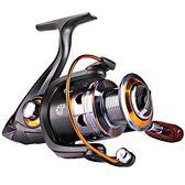 【美國代購】Sougayilang旋轉釣魚捲線器左/右可互換可折疊木柄強力金屬機身5.2:1