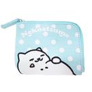 水藍色款【日本進口正版】貓咪收集 票夾錢包 零錢包 票卡包 票夾 Neko atsume - 427822