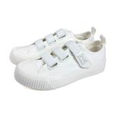KANGOL 休閒鞋 布鞋 女鞋 白色 魔鬼氈 6952200300 no070