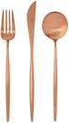 Cutipol【日本代購】葡萄牙 MOON系列 餐具 琥珀金晚餐-3件套