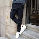 【KZ01】 素面學生束口抽繩運動束腳休閒褲 哈倫褲 (黑/M-2XL)