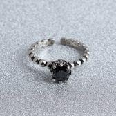 戒指 925純銀 瑪瑙-時尚流行生日聖誕節禮物女開口戒73gp37[時尚巴黎]