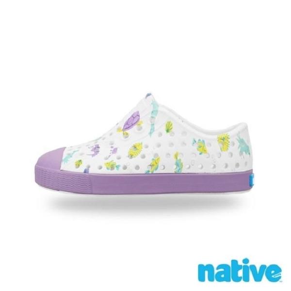 【南紡購物中心】【native】小童鞋 JEFFERSON 小奶油頭鞋-海底世界紫
