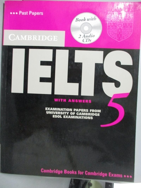 【書寶二手書T7/語言學習_ZAZ】Cambridge IELTS 5 Self-study: Examination