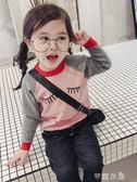 女童毛衣套頭秋冬新款童裝寶寶卡通針織衫冬秋兒童長袖打底衫 千惠衣屋