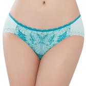 思薇爾-撩波芙蓉之戀系列M-XL蕾絲低腰三角內褲(青苗綠)