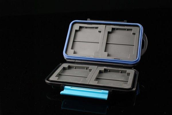 又敗家@JJC防撞防潑水記憶卡盒MC-2(可保存CF卡4張和MEMORY STICK DUO記憶卡8張,即共12張)